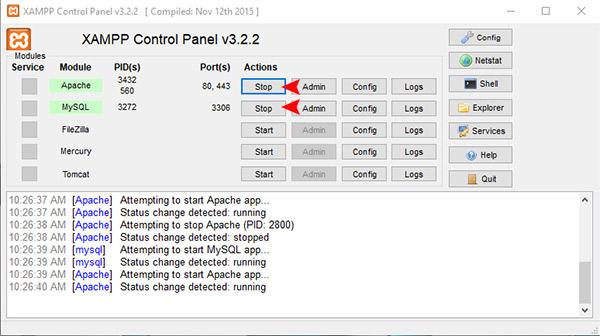 نصب وردپرس برروی ویندوز با استفاده از xampp